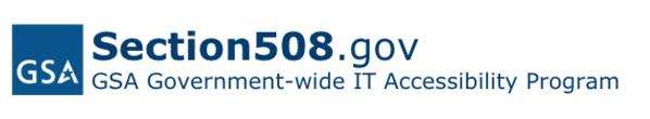 GSA Government-wide Section 508 Accessibility Program